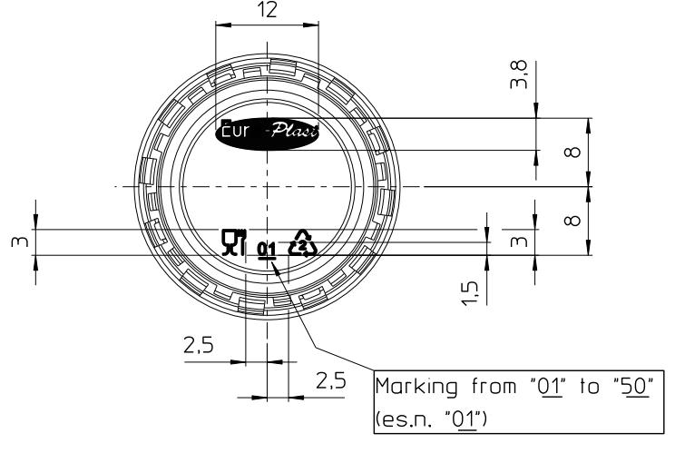 Полимерный колпачок, Eco Friendly, 1881, Ø28mm (120 рифлений)